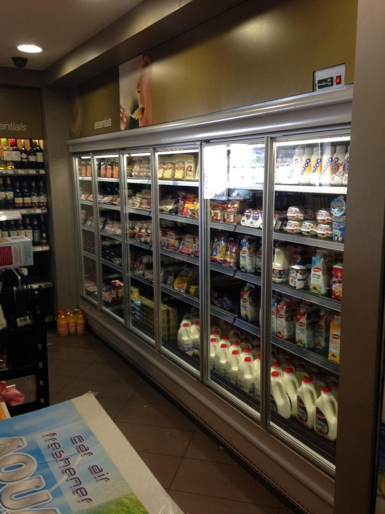 New Dairy Wall with glass doors